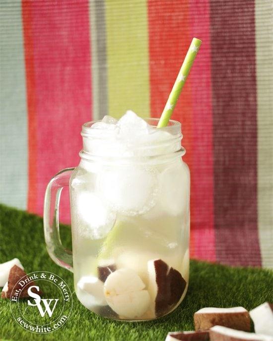 A refreshing coconut and lychee cocktail made with ciroc vodka