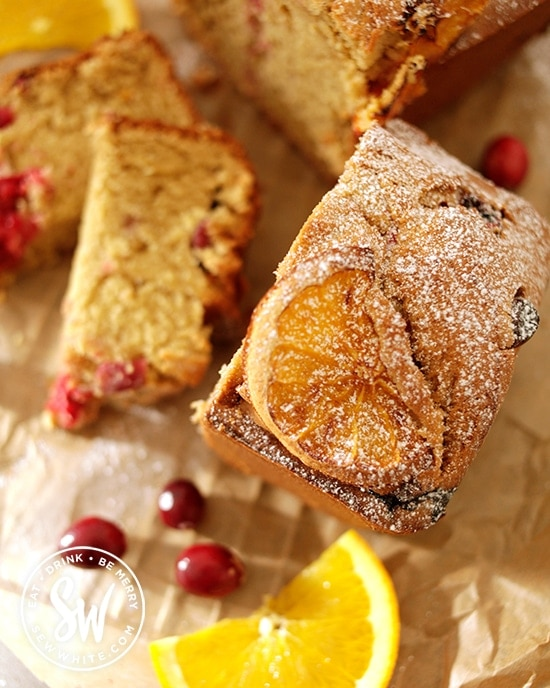 orange and cranberry loaf perfect for Christmas baking