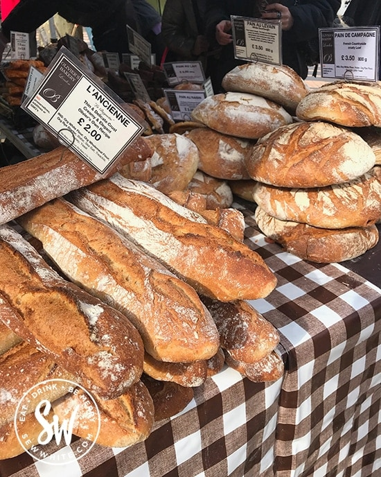Gorgeous fresh bread from Oliviers Bakery at the Love Wimbledon market