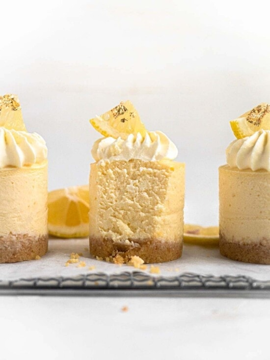 Baked Mini Japanese Yuzu Cheesecakes