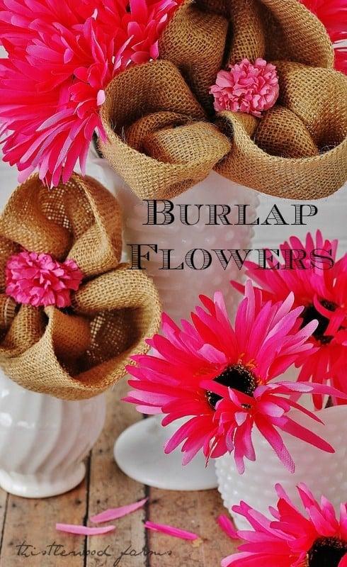 Burlap-Flower