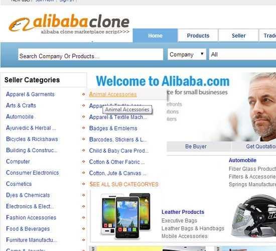Alibaba - اسکریپت فروشگاه ساز علی بابا AliBaba