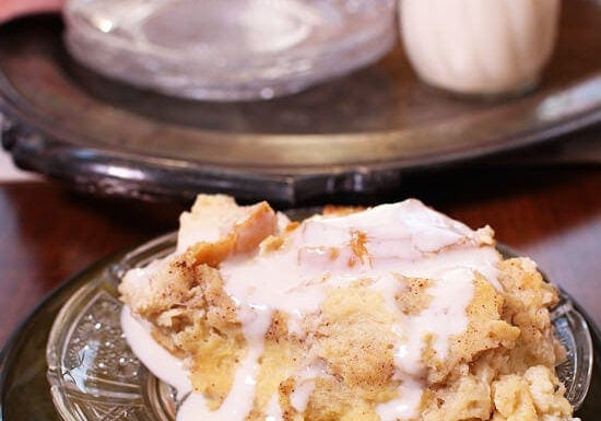 Bread Pudding with Whiskey Sauce For One or Two | One Dish Kitchen