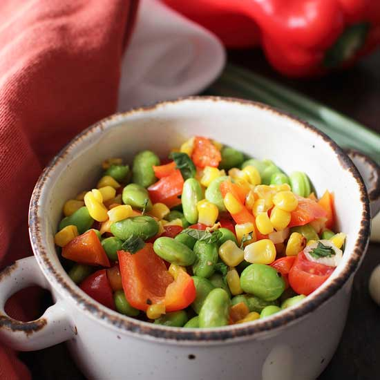 edamame salad   one dish kitchen