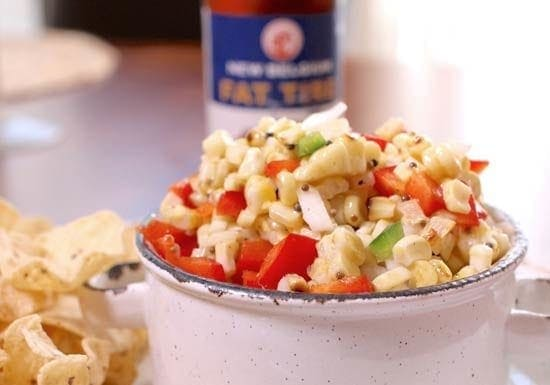 Grilled corn salsa for one