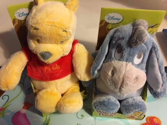Winnie the pooh plush toys and friends