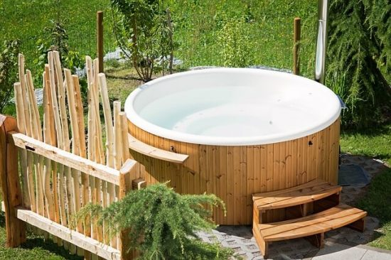 Where to place the hot tub in your garden