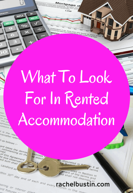 Here is a checklist of what to look for in rented accommodation from a tenants point of view. Who pays the bills, tips on renting, saving,