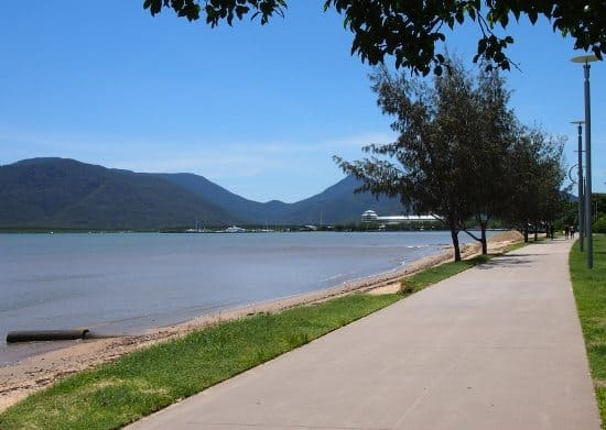 Is there a beach in Cairns? The Cairns Esplanade