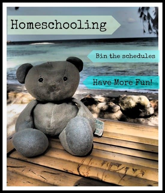 homeschooling schedule while travelling