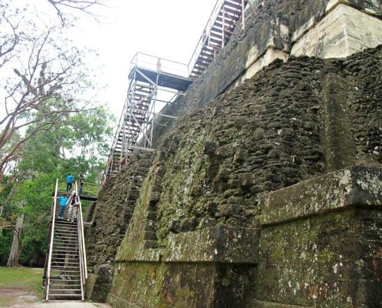 Guatemala Tikal with kids. Steps are Ok for kids
