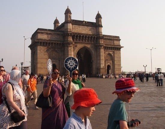 Mumbai, the gateway to India. Catching the boat to elephanta caves