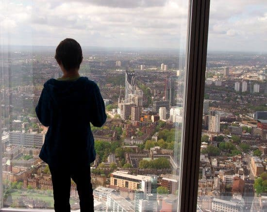 The View from The Shard with Chldren. Is it scary?