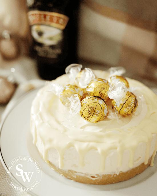 Baileys and White Chocolate Cheesecake christmas recipe
