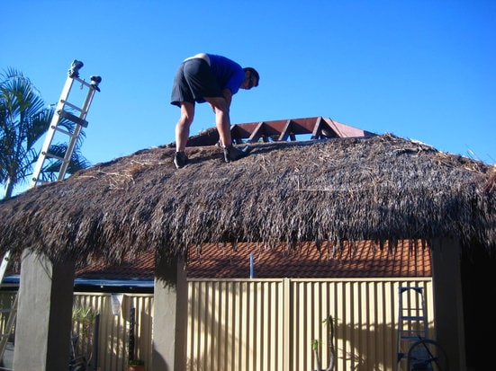 Bali Hut Thatch Replacement