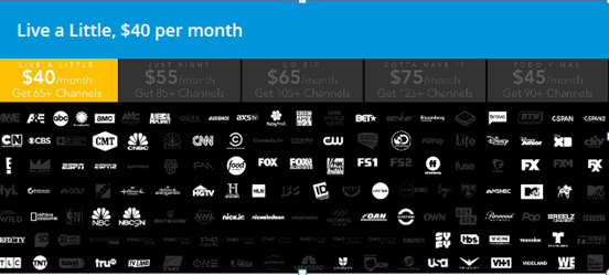 Directv now channels list