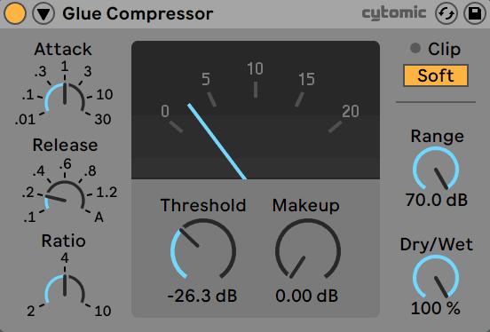 Glue Compressor Graphic Compression Meter