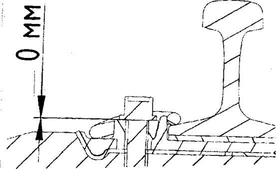 Отсутствие зазора между шайбой и опорной площадкой