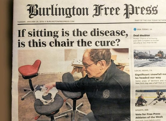 burlington free press features active chair company QOR360