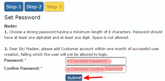Selfcare Password Creation