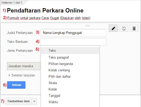 cara membuat formulir pendaftaran online dengan google drive