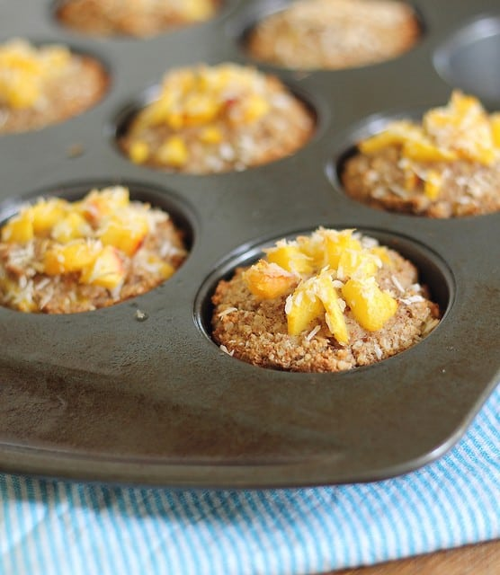 Peach coconut and almond flour muffins