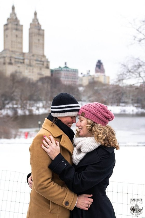 Photo 13 Same sex couple proposal at Cherry Hill in Central Park | VladLeto