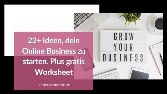 Online Business Ideen
