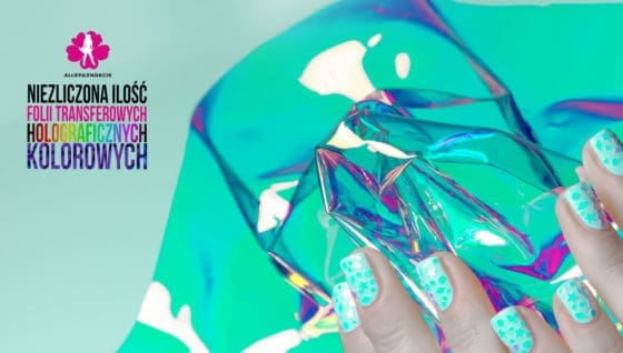 folia holograficzna na paznokcie