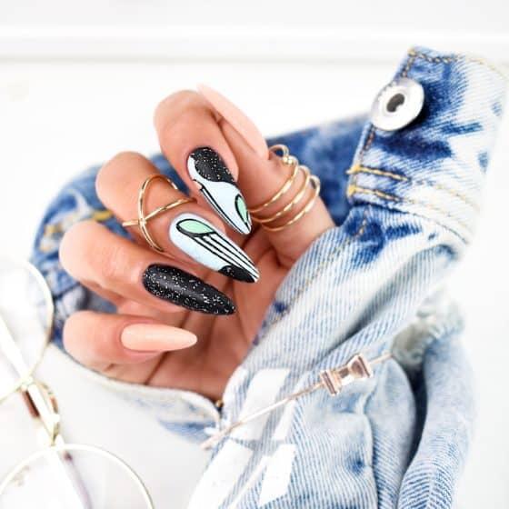 przykład manicure hybrydowego