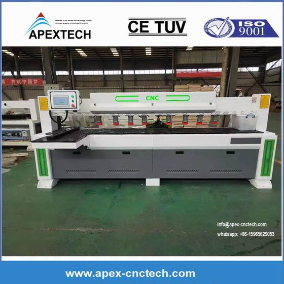 Double Spindles CNC Automatic Woodworking Side Hole Drilling Boring Milling Machine