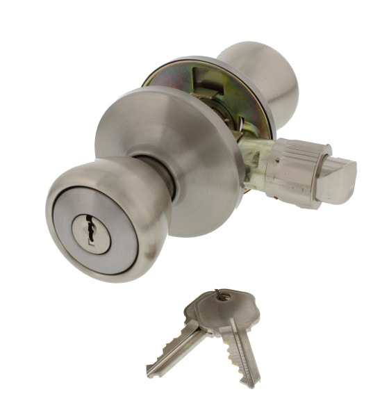 Mobile Home Entry Lock, Stainless Steel
