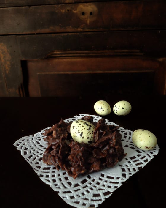 Filled Chocolate Cornflakes Nests