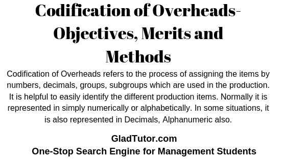 Codification of Overheads