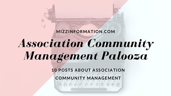 Association Community Management Palooza