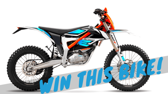 electric dirt bike giveaway