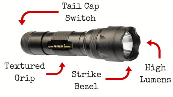 Tactical flashlight anatomy