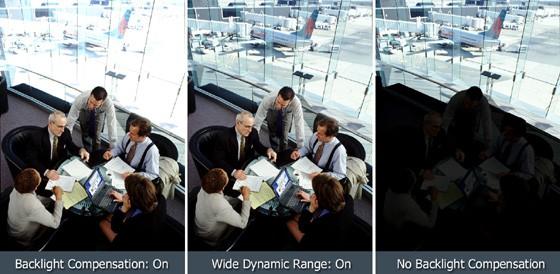 Minh họa về hình ảnh WDR, và hai hình ảnh khác được tạo ra từ việc