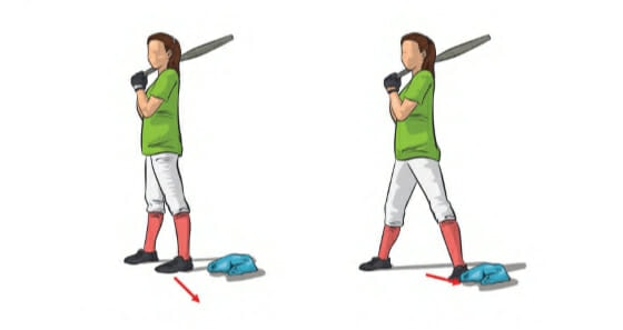 At Home Softball Drills - Step Drill