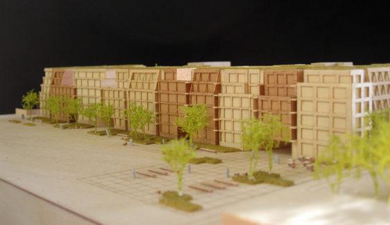 Maquette en bois pour Antonini darmon d'un projet à Asnières