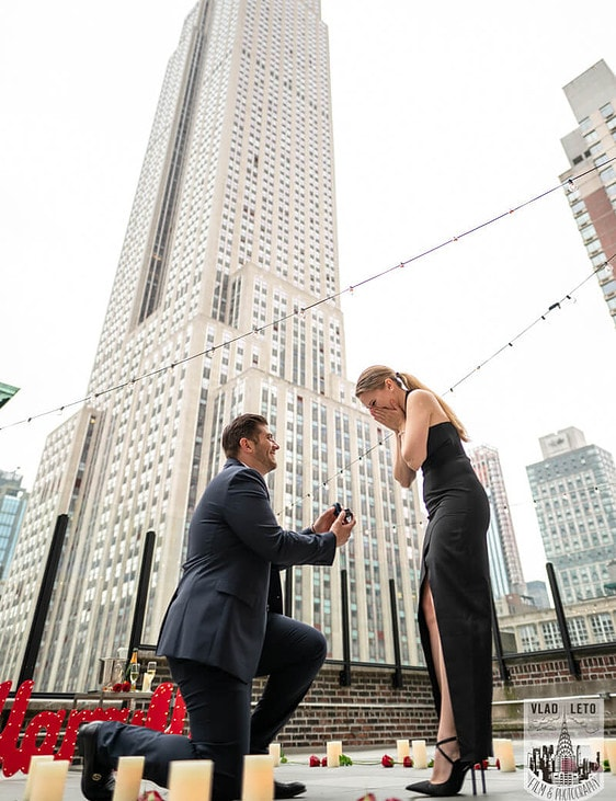 Photo Empire State Building view Proposal on a Private Rooftop | VladLeto