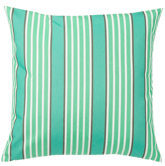 blue striped cushion