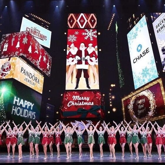 November 7, 2017: Dress rehearsal for the upcoming Radio City Christmas Spectacular at Radio City Music Hall in New York City.