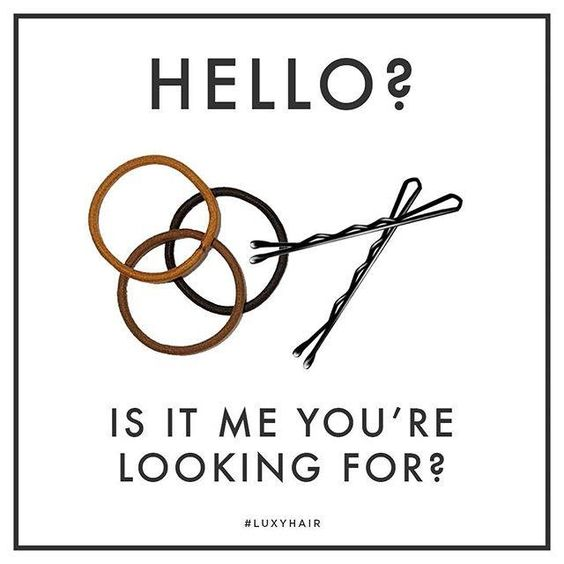 Hair Quote - Bobby Pins Hello Is it me you're looking for