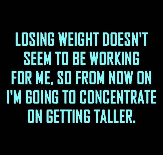 losing weight growing taller meme