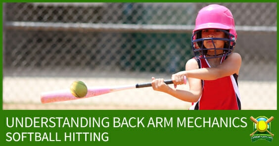 SOFTBALL HITTING BACK ARM