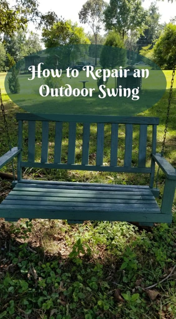 Wooden swing repair, outdoor swing repair