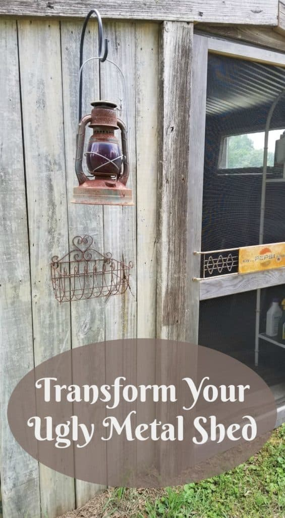 transform an ugly metal shed