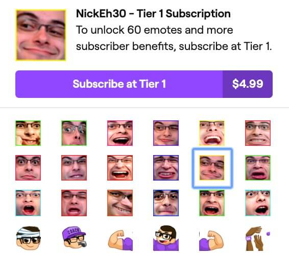twitch react emojis