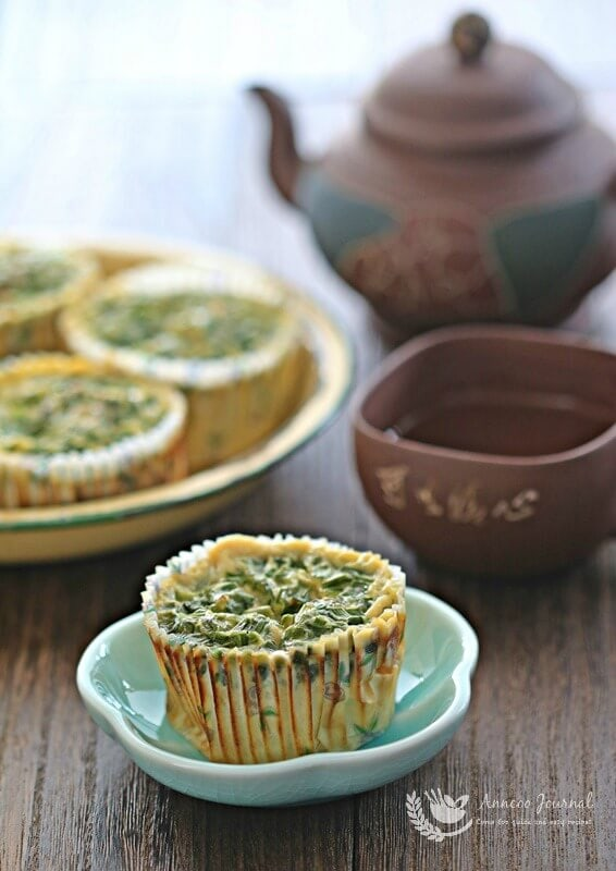 chive egg cakes